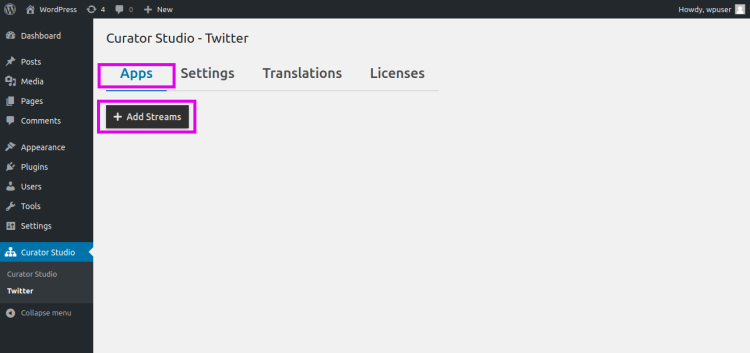 Twitter Feed Layout